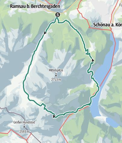 Karte / Rund um den Watzmann
