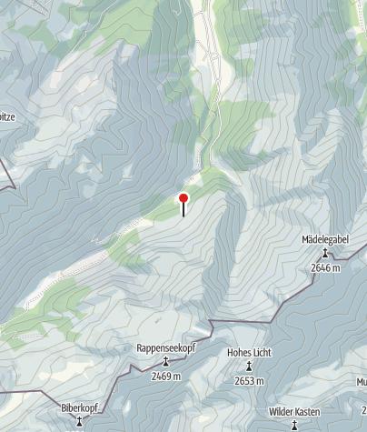 Karte / Peters-Alpe