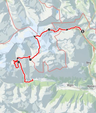 Karte / Hüttentour am Großvenediger