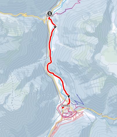 Map / Winterwanderweg Susch – La Fuorcha - Susch