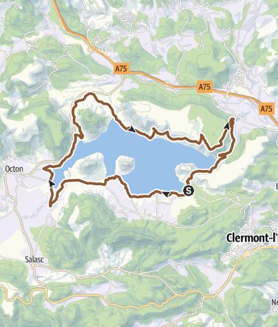 Carte / Le Lac du Salagou – Circuit VTT n°1