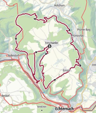 Hartă / Rund um das Ferschweiler Plateau