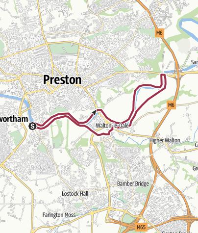 Map / Ribble Circular beside Preston