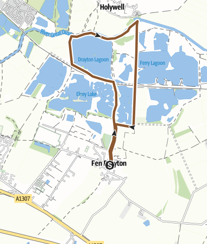 Map / Fen Drayton Nature Reserve Cycle Loop