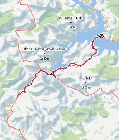 Map / Camino Vadiniense Stage 06: Riano-Cremenes