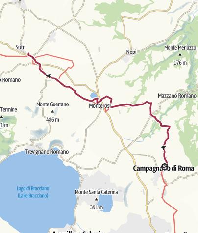 Map / Via Francigena [Lazio] Stage 03: Campagnano-Sutri