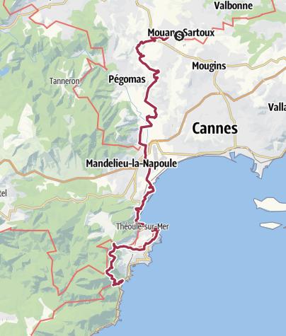 Map / GR653A Stage 04: Mouans-Le Trayas