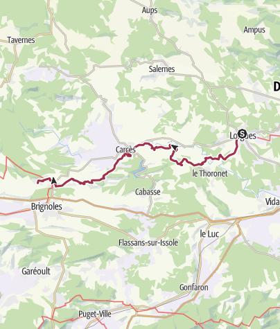 Map / GR653A Stage 07: Lorgues-Le Val