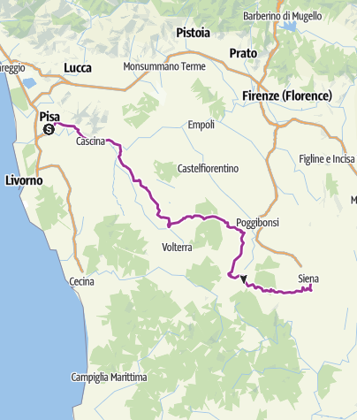 Map / Pisa to Siena