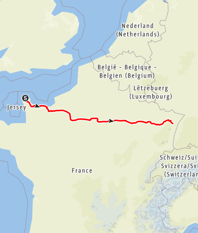 Map / Cherbourg to Marlenheim Motorways