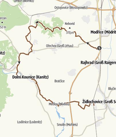 Map / Bobrava-Radostice-Kounice-Medlov-Hrušovany