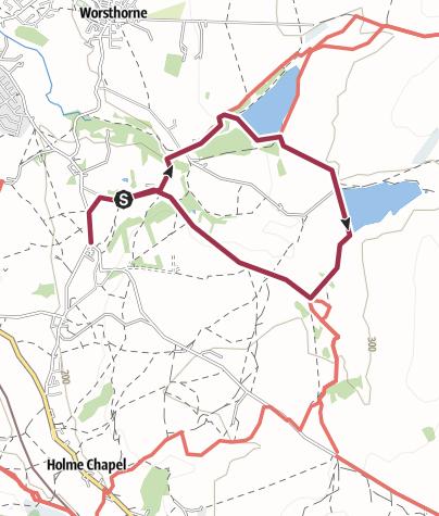 Map / Weds walks Hurst wood circular 3/4/13