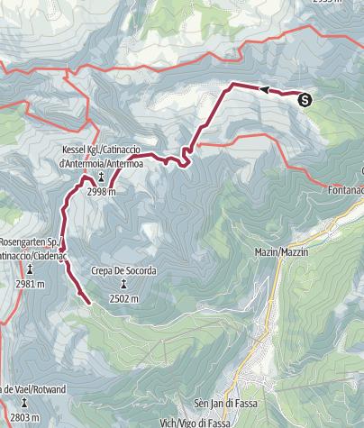 Map / Traversata del Catinaccio 02/ago/2016