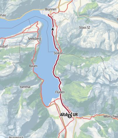 Karte / Schleifenroute CH / Altdorf - Brunnen / Wanderung 3