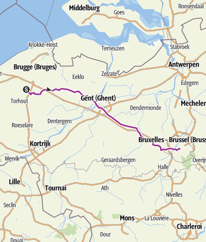 Mappa / Bruges to Brussels