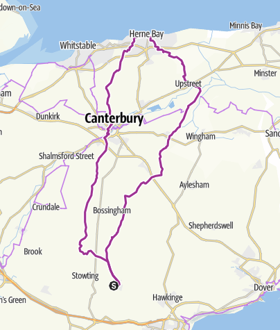 Map / 46mi Ride to Whitstable