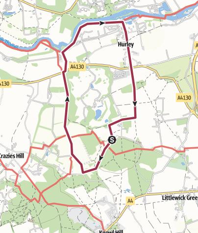 Map / Dew Drop Inn -  Hurley (Berks)  circular