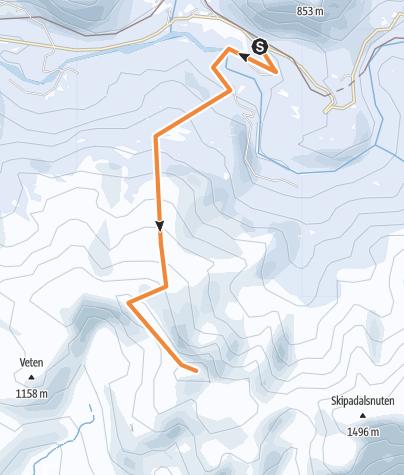 Map / Horndalsnuten from Skiple