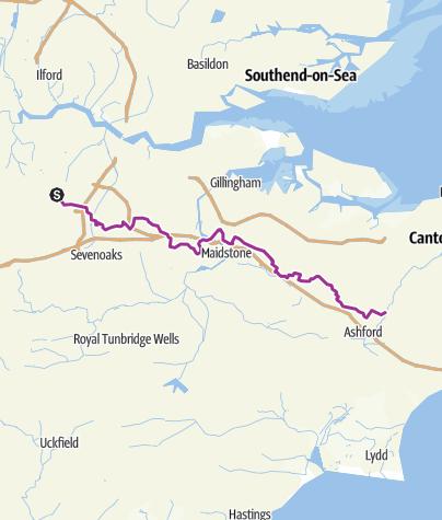 Map / Orpington to Wye