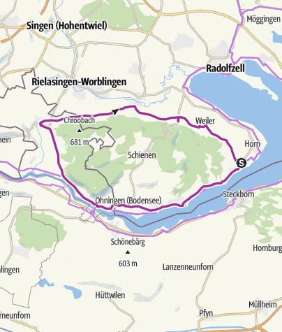 Map / Rund um die Halbinsel Höri ab Gaienhofen