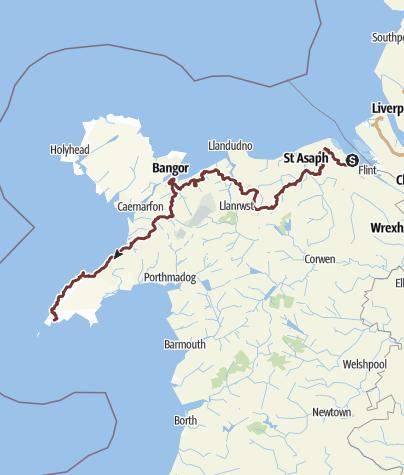 Map / North Wales Pilgrims Way