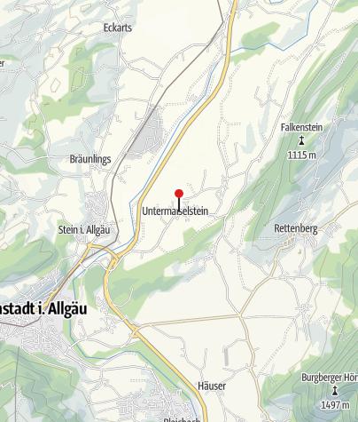 Map / Alpine dairy Untermaiselstein