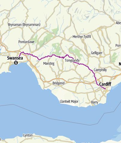 Map / CIN 2012 - Day 4 - Swansea to Cardiff