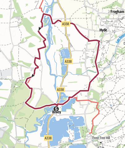 Map / Ibsley to Bickton and back