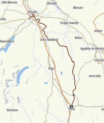 Map / 35A: Tebay to Penrith