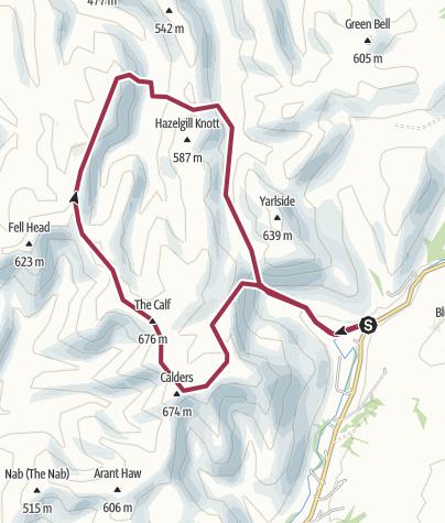 Map / 35A: Calf from Cautley