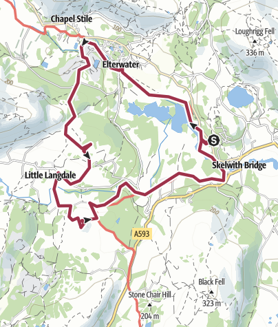 Map / 34B: Elterwater and Little Langdale