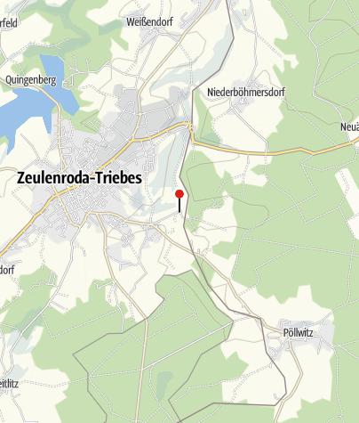 Karte / Pension & Pferdepension Kastanienhof Zeulenroda