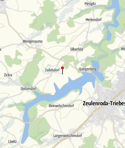 Karte / Eulenpark im Bungalowdorf Zadelsdorf