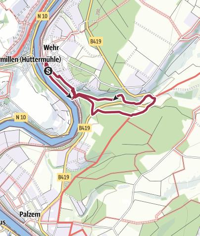 Karte / Moselsteig Seitensprung Wehrer Rosenberg