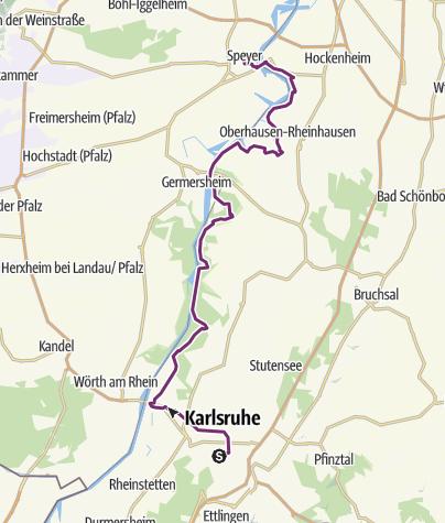 Karlsruhe Karte.Schleifenroute De Karlsruhe Speyer Etappe 35 Fernradweg