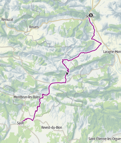 Map / Archamp - Ventoux - Day 5 (Serres - Sault)