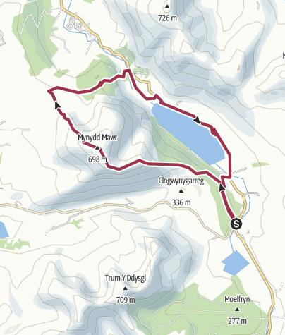 Map / Mynydd Mawr