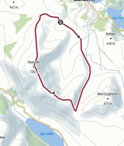 Map / Llanberis Moel Eilio loop. Jan 1, 2013
