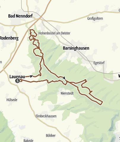 Карта / Lauenau Deister Tour