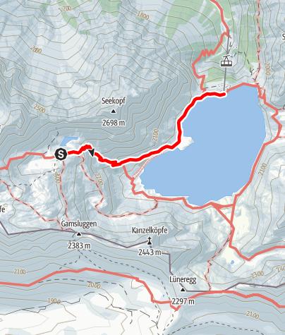 Karte / Montafoner Hüttenrunde - Totalphütte zur Douglassshütte