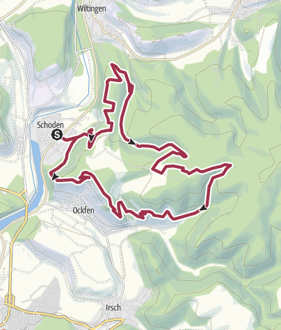 Karte / Moselsteig Seitensprung Saar-Riesling-Steig