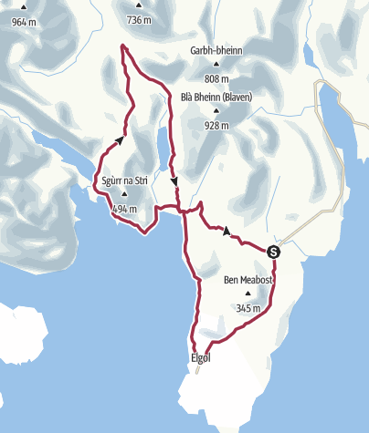 Map / Elgol Penisula flat and hills - 10 Oct 2012