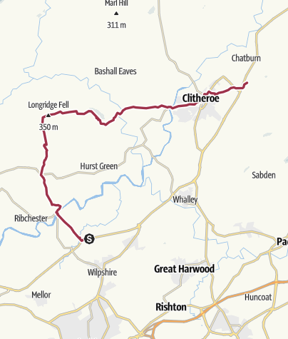 Map / Copster Green to Worston (Christmas)