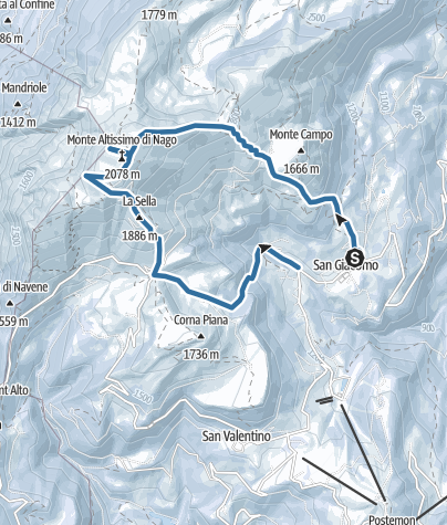 Map / Monte Altissimo di Nago – Altopiano di Brentonico