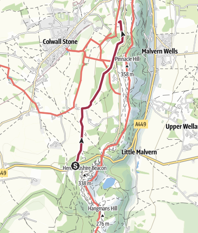 Map / Team B route to the Chase pub