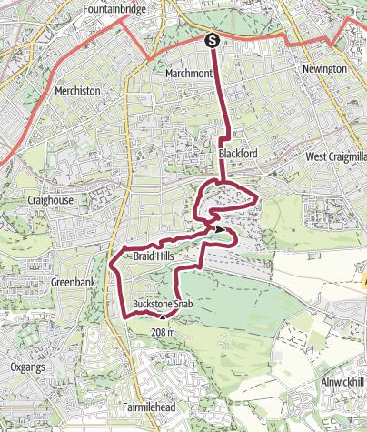 Map / Blackford Braid Hills