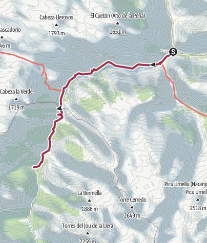 Map / Senda del Cares - Cares Gorge