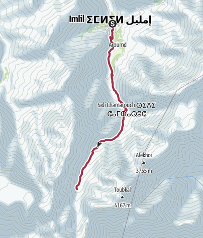 Map / Jebel Toubkal Trek Day 1 - Imlil to Refuge 2014