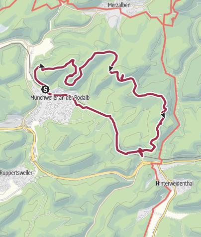 Karte / Münchweiler Höhenwanderweg
