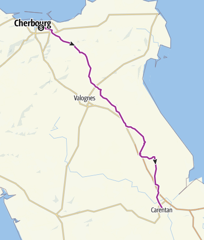 Map / CherbourgToCarentan